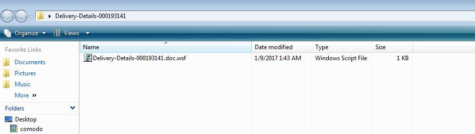 Courier Malware Attachment