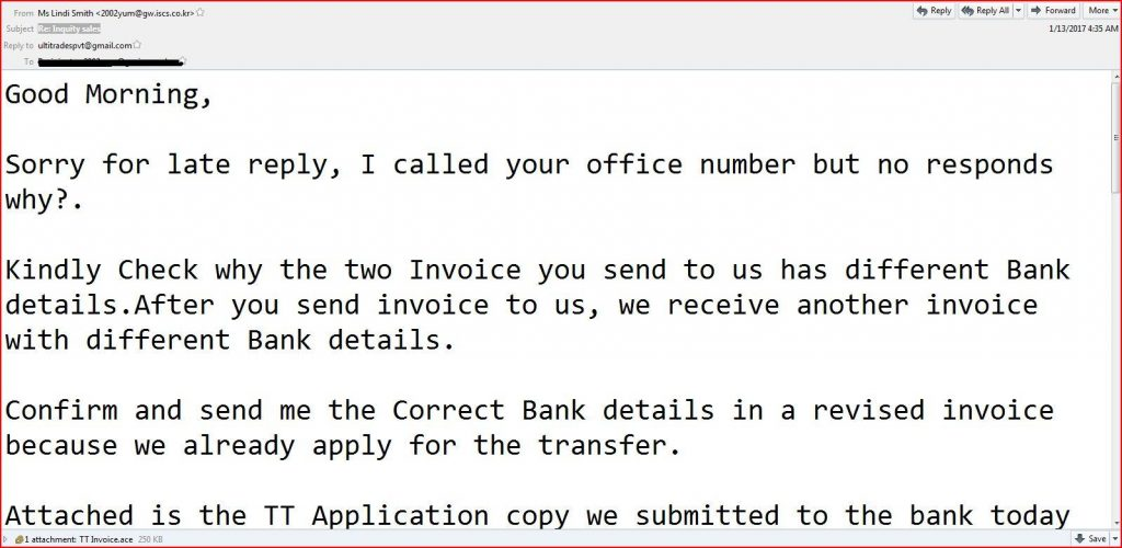 Inquity Sale Malware Email