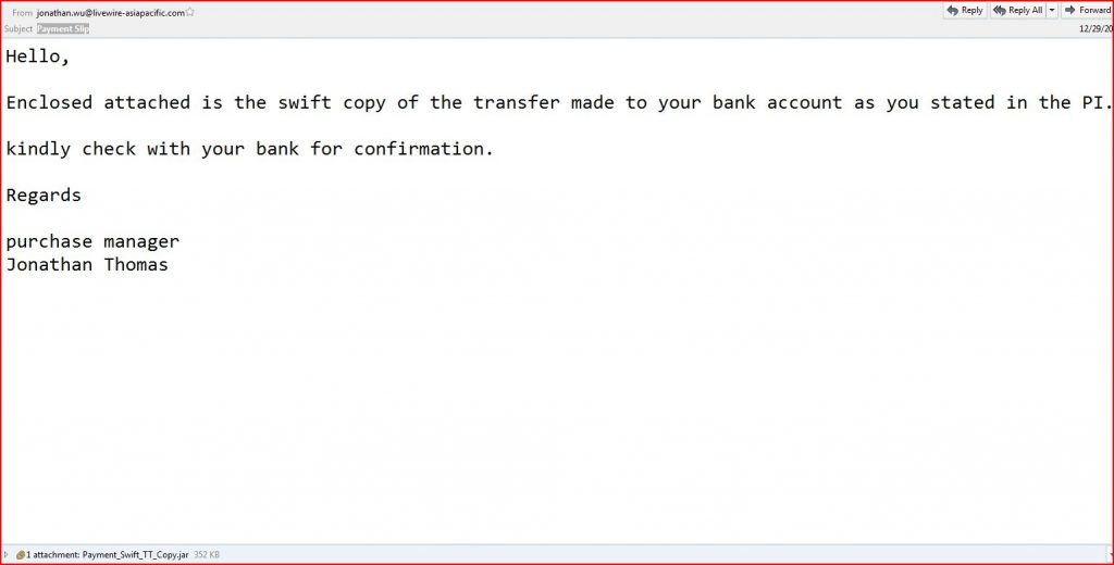 payment slip malware email