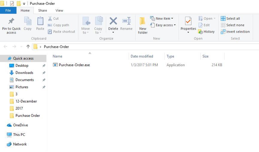 purchase order malware attachment